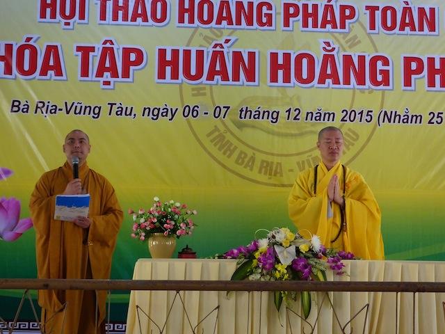 Ngày thứ hai Khoá tập huấn Hoằng pháp viên Phật tử tại tổ đình Đại Tòng Lâm