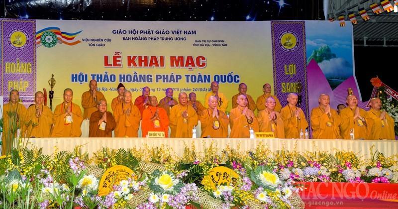 Ấn tượng Hội thảo Hoằng pháp toàn quốc 2015