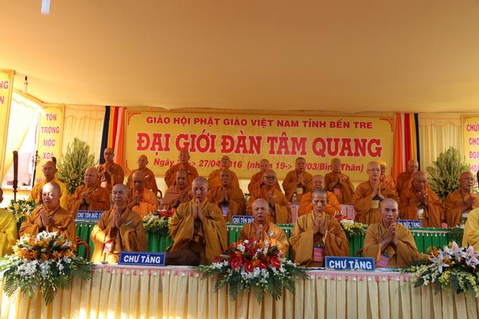 Bến Tre Lễ Khai Mạc Đại Giới đàn Tâm Quang