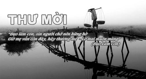 THƯ MỜI – Tham gia diễn đàn giao lưu Vu-lan – NĂM 2016