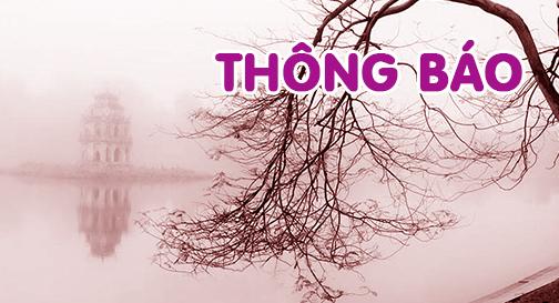 Thông báo – V/v Tổ chức Lễ Vu-lan Báo hiếu tại Hà Nội