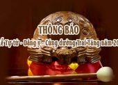 THÔNG BÁO – Lễ Tự tứ – Dâng y – Cúng dường Trai Tăng năm 2017