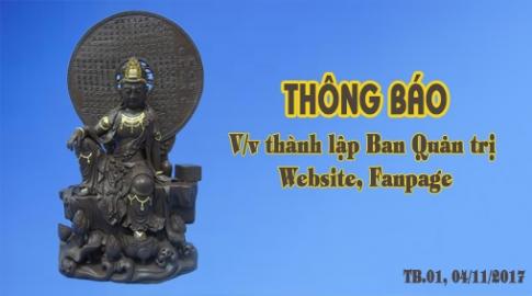 THÔNG BÁO – V/v thành lập Ban Quản trị Website, Fanpage