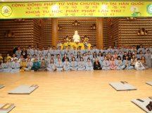 Ngày thứ hai khóa tu học Phật pháp tại Hàn Quốc lần thứ 7