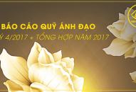 Báo cáo quỹ Ánh Đạo Quý 4/2017 + Tổng hợp năm 2017