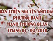 BTN Ánh Đạo phương danh Mạnh Thường quân ủng hộ tháng 01-02/2018