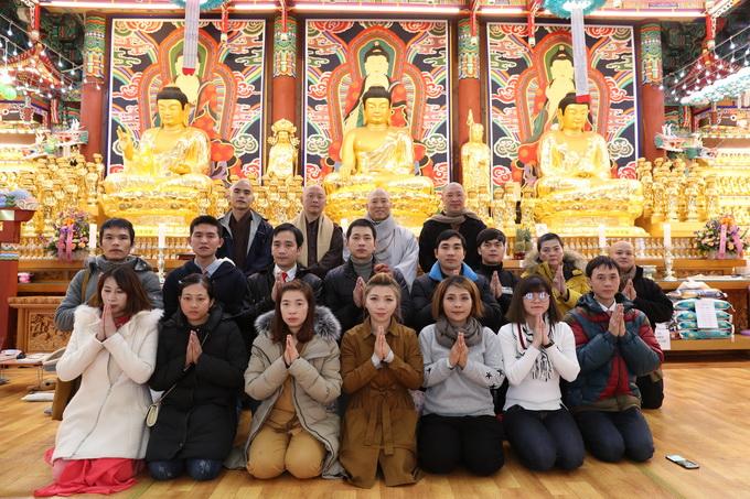 Buổi gặp gỡ thân mật tại chùa Đại Pháp Luân Hàn Quốc